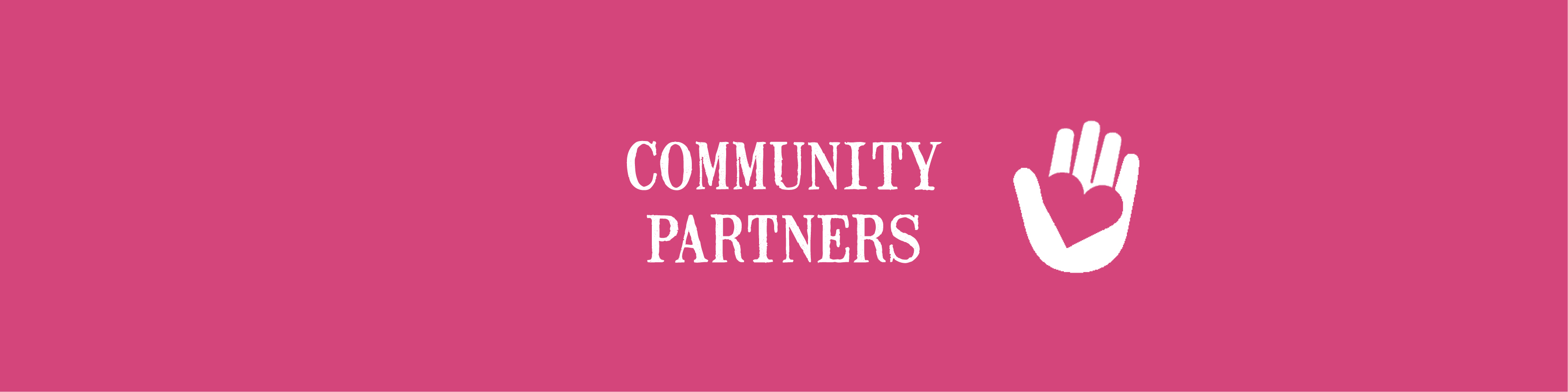 Banner 7 - Community Partners - pink
